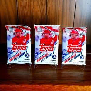 2021 Topps Series 1 baseball cards,  3 packs